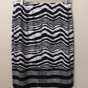 Chico's Striped Black White Skirt